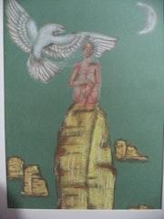Rêves de Femme: pastels secs sur papier - 40x50.