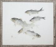 Empreintes de bars gyotaku. Marc Porrini