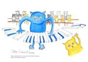 Spielen das Klavier bringt mich zum Lächeln. Carol Scown-Raynal