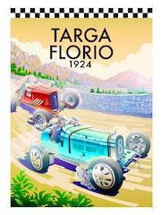Targa Florio 1924. Bugatti 35c. Alvaro Duarte