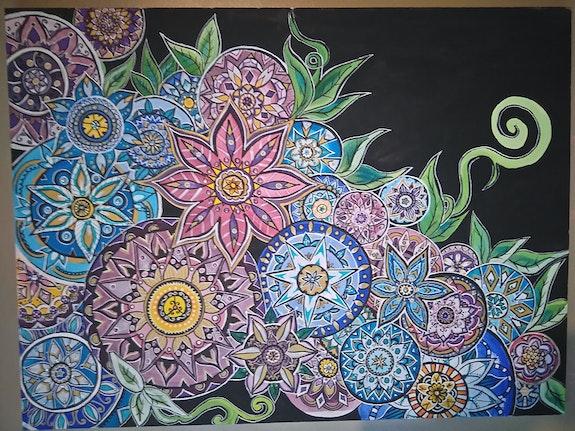 Mandalas flowers. Lina Lanzetta Linarosa