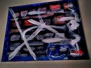 Seisme a Fukishima peinture acrylique abstrait. Mick