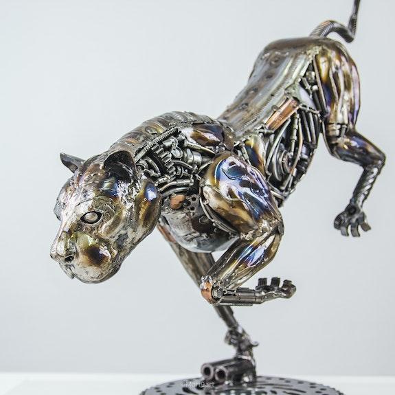 Lion metal art sculpture. Lion Scrap Metal Sculpture Mari9Art
