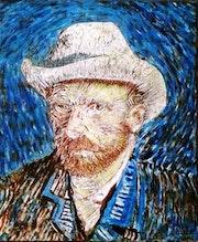El sombrero de Van Gogh Óleo sobre lienzo 34 X 29.