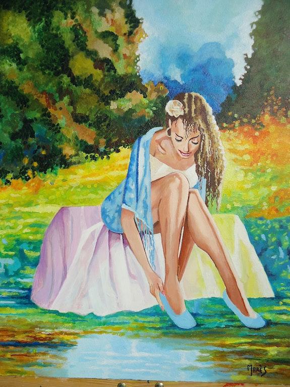 Jeune fille au bord de l'eau. Marès Marès