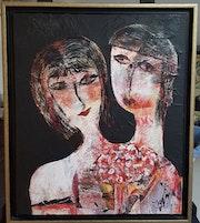 Les Amoureux. Jeannine Guillaume Artiste Coté