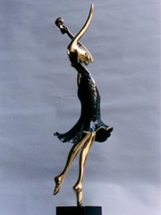 Bayla: (Belle) femme violon dansant. Richard-Cliff Galerie Tel-Aviv