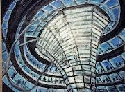 Oeuvre d'architecte dite Coupole du Reichstag. Klaus Werner