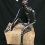L'homme qui pense style steampunk. Alain Bortolet