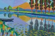 Un paysage du marais Poitevin.