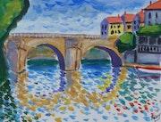 Le vieux pont de Poissy.