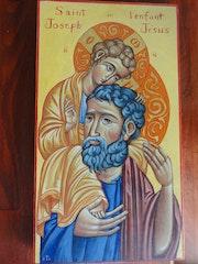 Joseph et l'enfant Jésus.