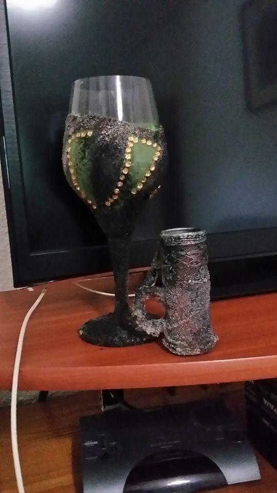Cristal chopito de fuego. Katy Katy