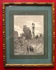 Promeneurs dans un Paysage. Antiquité & Collection 78