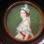 Eugénie de Montijo - Miniature sur ivoire. Antiquité & Collection 78