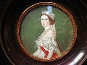 Eugénie de Montijo - Miniature sur ivoire.