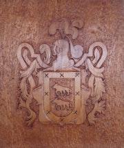 Escudo de Armas y Heraldico. Talla en madera..