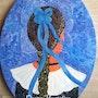 Peinture acrylique Le portrait romantique d'une bretonne «Enora». Oxana Mustafina