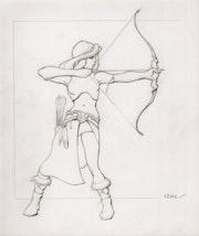 Blonde archère.