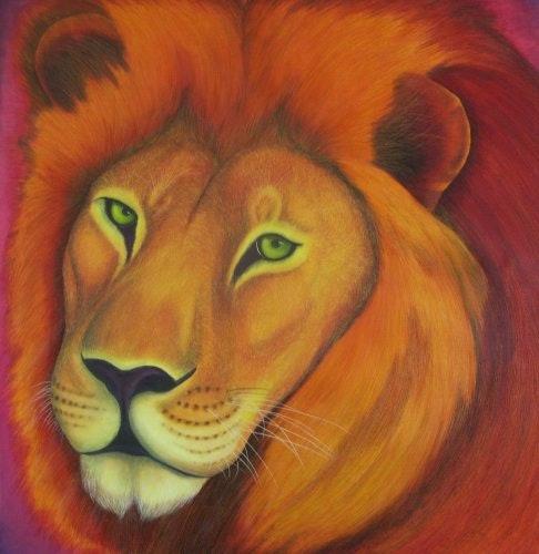 Lion de feu. Chris-R Chris-R Artiste Peintre Animalier