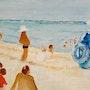 La plage, le plagiste. Richard Nichanian