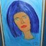La dame au cheveux bleu. Luc Terrail