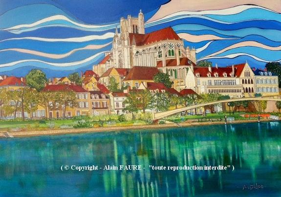 Auxerre - st etienne. Alain Faure Alain Faure En Peinture