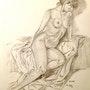 Femme nue et sensuelle. Fredessin