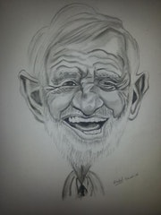 Belmondo caricature.
