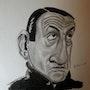Lino Ventura caricature. Abdel Lakhdouri