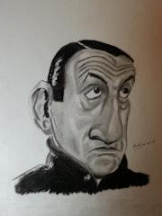 Lino Ventura caricature.