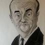 Bernard Blier caricature. Abdel Lakhdouri