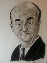 Bernard Blier caricature.
