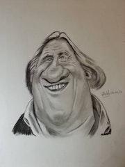 Gerard Depardieu caricature.