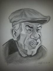 André Pousse caricature.