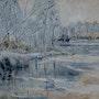 Lac sous la neige. Dany Wattier