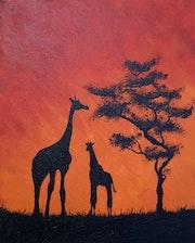 Le deux giraffes. Mehdi Mghaieth