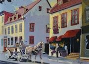 (Le Cocher) vieux Québec Canada. Jacques Sevigny