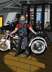 Portrait Harley Davidson Limoges. Selleret Frédéric