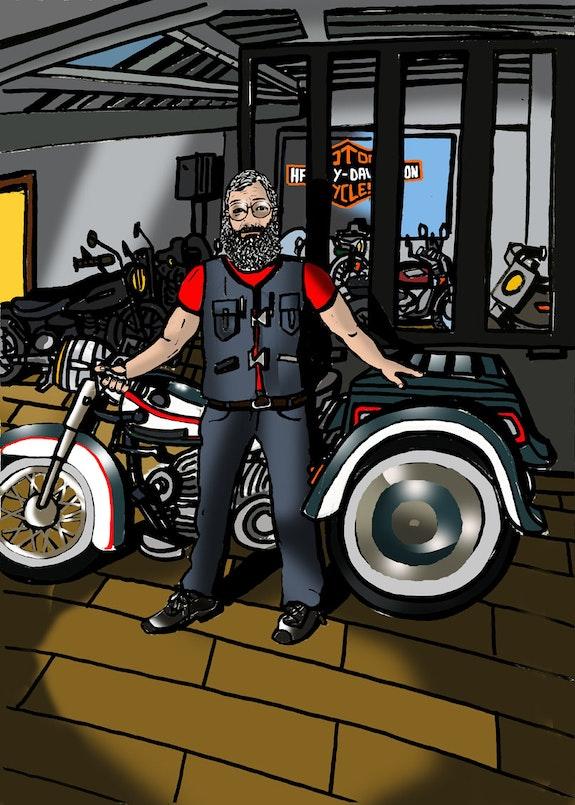 Portrait Harley Davidson Limoges. Frederic Selleret Selleret Frédéric