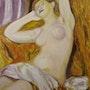 Dormeuse. Une reproduction de l'oeuvre d'Auguste renoir. Paul De Simone