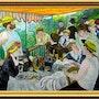 Le déjeuner des canotiers. Reproduction de cette belle oeuvre d'Auguste Renoir. Paul De Simone