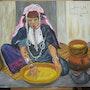 La Berbère. Une belle toile d'un artiste ancien.. Paul De Simone