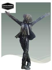 Statue Michael Jackson taille réel réalisée par artiste de Fer Forgé. Luxteam Mobilier