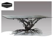 Table racines en fer forgé. Luxteam Mobilier