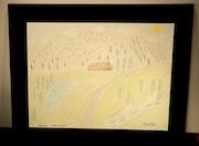 Repos (paysage aux crayons de couleur). Christac