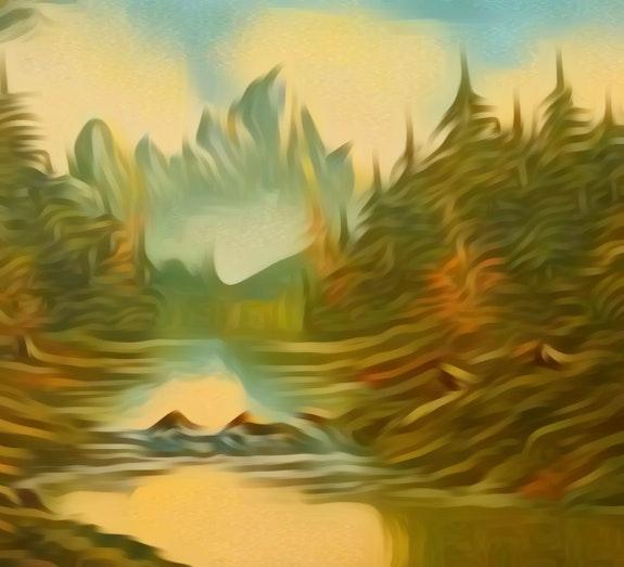 Mountains, Trees and River. Amitabh Bhushan Amitabh Bhushan