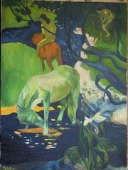 Paul Gauguin Le cheval blanc.