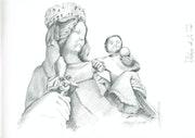 Vierge à l'enfant. D'hy