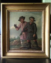 Antique paintings around 1800 Russian painter A. Orlowski. Silverbullit